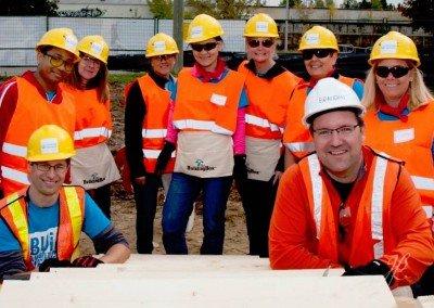 Brandon Buller leading a crew for Habitat for Humanity