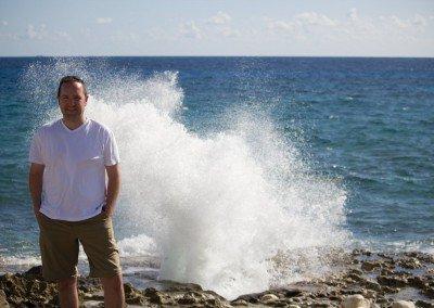 Brandon Buller at Blow Holes, Grand Cayman
