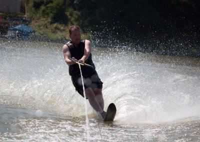 Brandon Buller Water skiing at family cottage