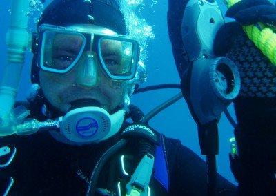 Brandon Buller scuba diving in Tobermory